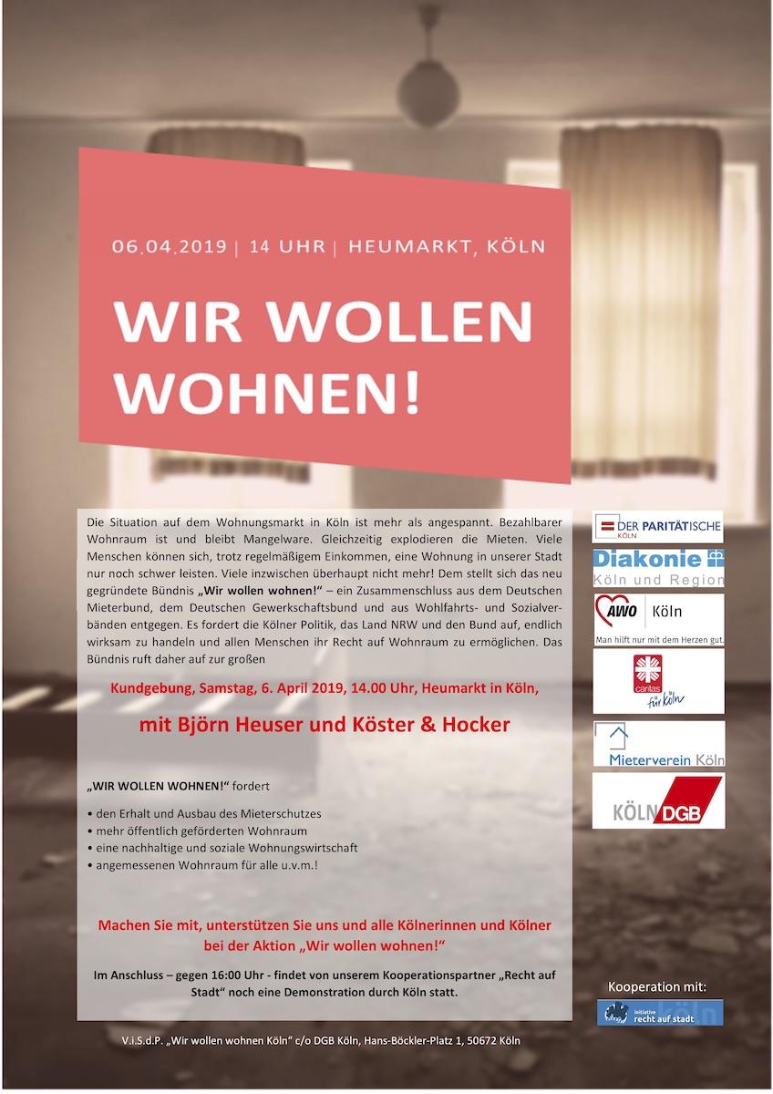 Kundgebungs-Flyer von DGB und Sozialverbänden